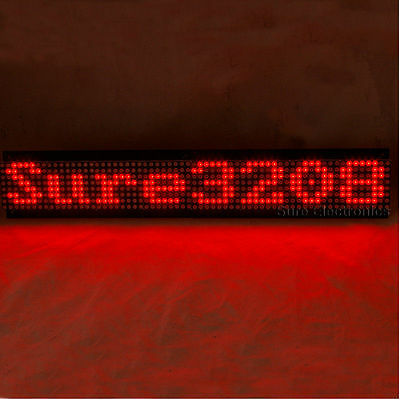 P7.62 32X8 3208 Red LED Dot Matrix Unit Board Information Display Board