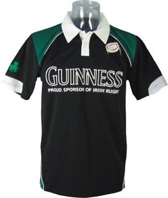 Maglietta manica corta Polo Irish Rugby Guinness Beer *11440