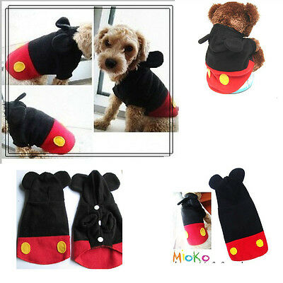 Pet Puppy Mickey avant garde Hoodie coat apparel dog clothes pets clothing WT04