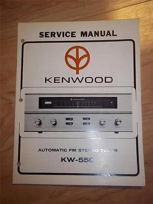 Kenwood Service Manual~KW-550 Tuner~Original Repair