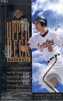 2 Box Lot 1994 Ud Upper Deck 2 Eastern Region Hobby Sealed Baseball