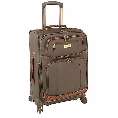 "TOMMY BAHAMA MOJITO BROWNSTONE 20"" SPINNER SUITCASE LUGGAGE $320 VALUE"