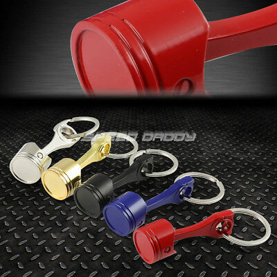 Race Car Large Engine Piston/Rod Assembly Metal Keychain Key Chain Ring