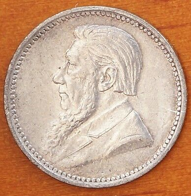 1897 South Africa Threepence Sterling Silver ZAR Coin KM# 3