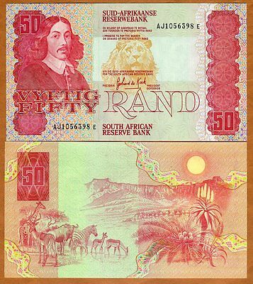 South Africa, 50 rand, ND (1984), P-122 (122a), UNC