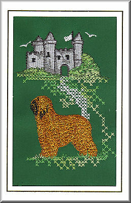 Briard Birthday Card or Notecard Embroidered by Dogmania