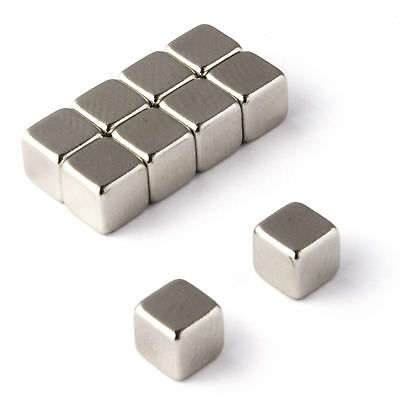 10 Strong Magnets * 5mm Cube * Neodymium 1.1Kg Pull Rare Earth Block Magnetic