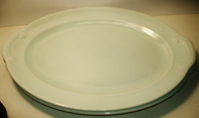 """LuRay Pastels Mint Green Oval 11.5"""" Platter-T.S.& T.-Vintage"""