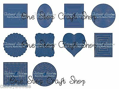 Tattered Lace Cutting Dies - Decorative Edge Rectangles - SALE PRICE