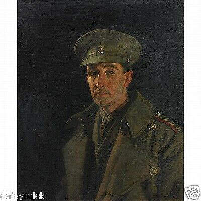 Captain Wood Royal Inniskilling Fusiliers Sir William Orpen 1919 World War 1 5x4