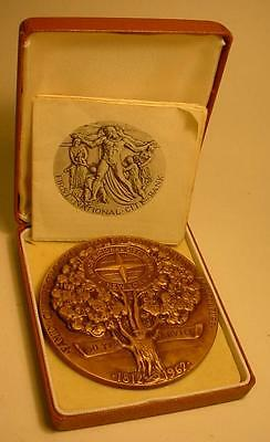 1962 First National Bank Bronze Medallion with Paperwork
