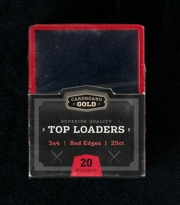 200 Ultra CBG Pro Red Border 3x4 Toploaders + 200 Soft Sleeves Brand New!