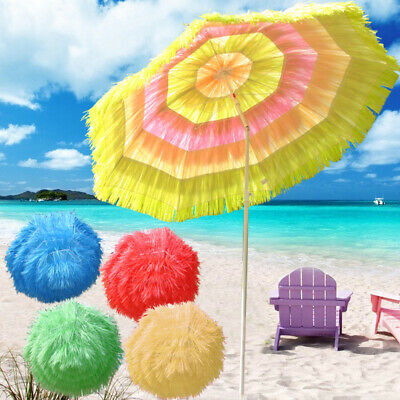 Patio Garden Beach Hawaiian Parasol Sunshade Sun Umbrella Tilting Greenbay
