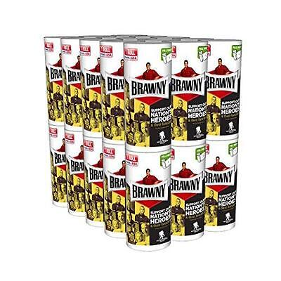 Brawny Individually Wrapped Regular Paper Towels Rolls, White, 30 Count New