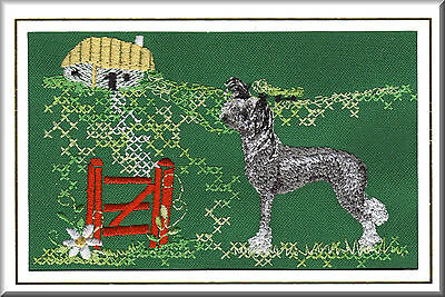 Chinese Crested Birthday Card or Notecard Embroidered by Dogmania