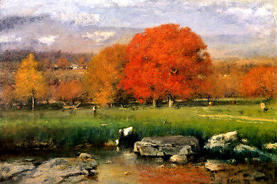 Morning Catskill Valley New York Usa Landscape Painting By George Inness Repro