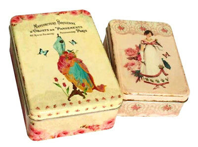 Vintage Victorian Metal Shabby Storage Cake Biscuits Sewing Tins Canisters