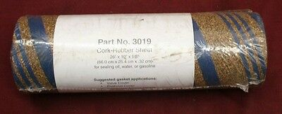 """26 x10 cork rubber Gasket Material 1/8"""" Gas Oil Water Engine Truck Car roll"""