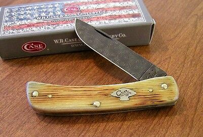 CASE XX New Natural Barnboard Bone Handle Damascus Sodbuster Jr Knife/Knives