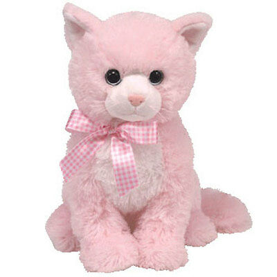 TY Classic Plush - DUCHESS the Pink Cat (9 inch) - MWMT's - Stuffed Animal Toy