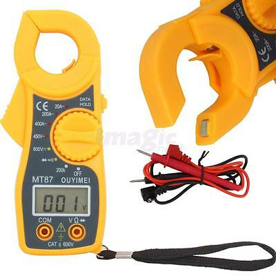 MT87 Digital LCD Clamp Multimeter DMM AC Voltage AC Current Ohm Tester Meter