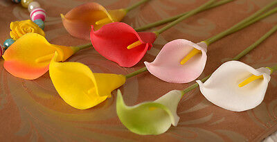 1pc Real Touch Fake Silk Artificial Calla Lily Flower Arrangement Party Decor