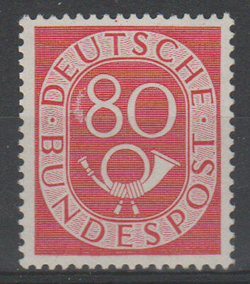 Germany 80 Pf. Posthorn 1951 MNH Signed CV $ 780.-