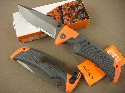 G&B Knife Camping Fishing Tactical Survival Half Serrated Sharp Saber Gift k126e