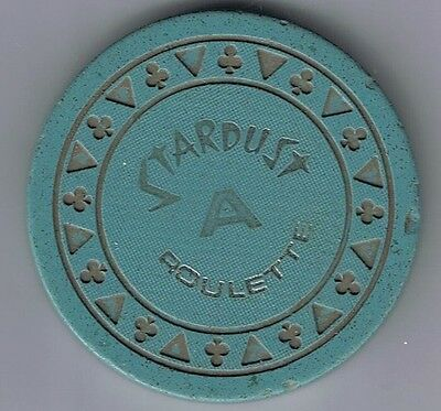 Stardust Casino Triclb Blue-Grey A Roulette Chip Las Vegas Nevada VG Condition