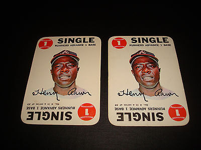 Henry Hank Aaron Braves HOF 1968 Topps Game Card Inserts #4 A14