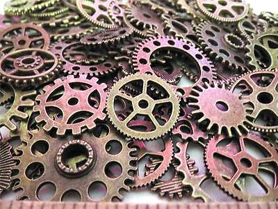 """100g 1"""" to 3/8"""" Gears VARIETY Lot New Steampunk Watch Parts Clock Wheels =60+-"""