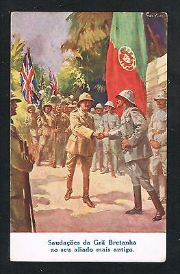 PORTUGAL COLONIAL AND BRITISH MILITARY TROOPS IN AFRICA MOZAMBIQUE OLD POSTCARD