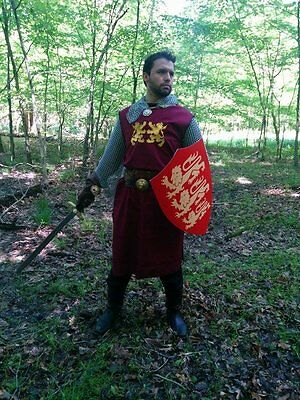 King Richard Lionheart Medieval Crusader Knight Surcoat Tunic Tabard New