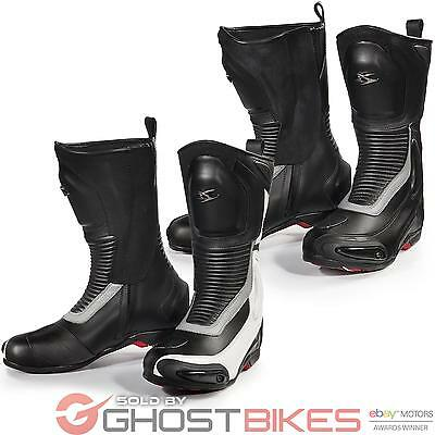 Spyke Road Runner WP Waterproof Motorcycle Boots Touring Bike Boot All Sizes