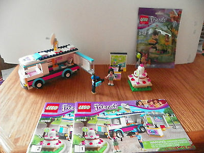 Lot #9-Used Lego Friends-# 41056-Heartlake News Van, # 41045-Orangutan's Tree
