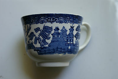 Old Vintage Blue Willow Made in England Coffee or Tea Cup circa 1940s or 1950s