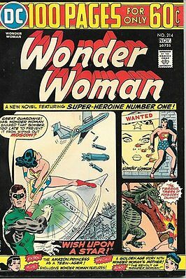 Wonder Woman Comic Book #214, DC Comics 1974 VERY FINE