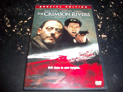 THRILLER MOVIE: THE CRIMSON RIVERS!! USED & IN EXCELLENT CONDITION! JEAN RENO!!!