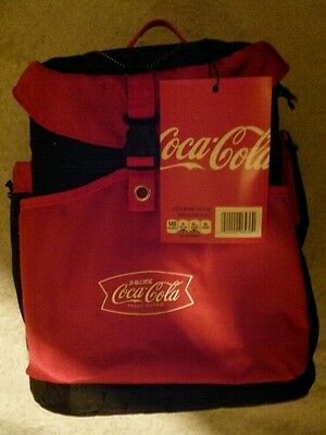 *Brand NEW* Coca Cola COKE Insulated Red & Black Backpack 24 Can Cooler