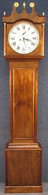 George III 8 Day Grandfather Clock With Circular Dial & Later Non Original Case