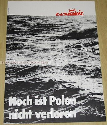 poland SOLIDARNOSC SOLIDARITY * GERMAN POSTER from 1982 * SPD PARTY *