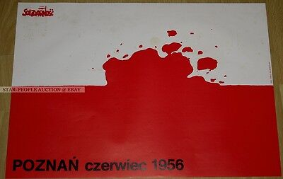 poland SOLIDARNOSC SOLIDARITY * GERMAN POSTER from 1982 * SPD PARTY poznan