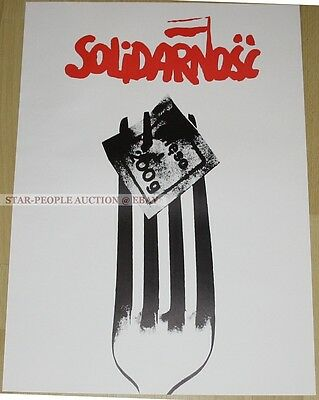 poland SOLIDARNOSC SOLIDARITY * GERMAN POSTER from 1982 * SPD PARTY communism