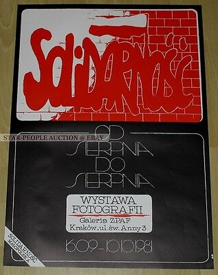 poland SOLIDARNOSC SOLIDARITY * GERMAN POSTER from 1982 * SPD exhibition cracow