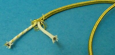 Gold Rayon Covered Wire Vintage Antique Style Cloth Lamp Lights Cord repair 10 f
