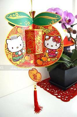 Sanrio Hello Kitty 3D Paper Pop-up Big Tangerines Chinese New Year Decoration