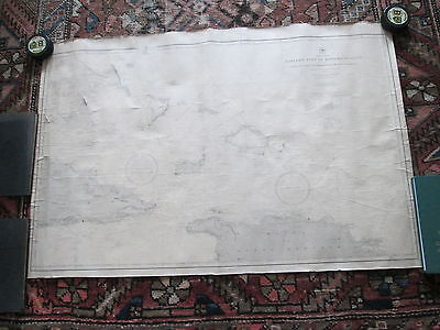 Original1885/1890 Us Navy Nautical Chart #946 Eastern Part Of The Bahama Islands