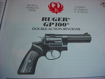 Ruger GP1000 Instruction Owners Manual Parts Diagram w/ Part Numbers