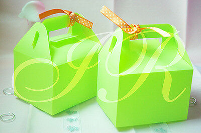 "4"" x 3"" x 2 3/4""Green Matte Plastic Frosted  Gift  Box - Pack of 12