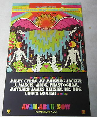 "The Flaming Lips - With a Little Help * Promo Poster * 11"" x 17"" limited beatles"